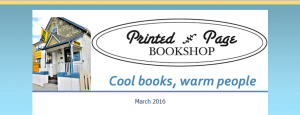 Printed Page Bookshop email newsletter